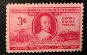 971 Volunteer Firemen, Circulated Single, VF, NH, Vic's Stamp Stash
