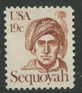 USA - Scott 1859 - Great Americans -1980- MNG - Single 19c Stamp