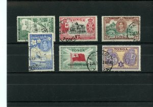 TONGA #94 to #99 used Cat $16 stamps