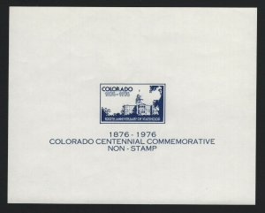 United States MINT COLORADO ENGRAVING PROOF SOUVENIR SHEET  - BARNEYS