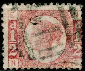 SG49, ½d rose PLATE 14, USED. Cat £22. NE