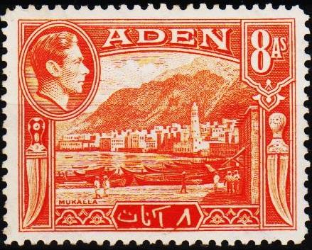 Aden.1939 8a  S.G.23 Mounted Mint