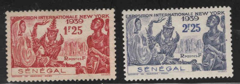 Senegal Scott 191-192 MH* NY Intl Expo set of 1939