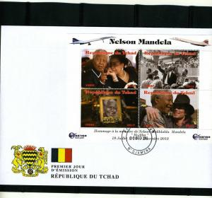 Chad 2013 Michael Jackson Nelson Mandela Sheet Perforated in official FDC