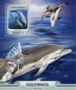 Guinea-Bissau MNH S/S Rough Toothed Dolphins 2016