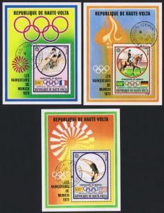 Upper Volta Winners Summer Olympic Games Munich 3 MSs SG#MS391 SC#C124-C126