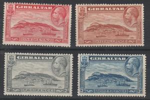 GIBRALTAR 1931 KGV PICTORIAL SET PERF 13.5 X 14