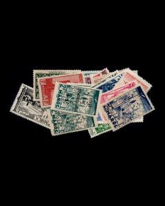 VINTAGE: MOROCCO 1931 MOSTLY OGLH SCOTT # 123-167 $ 16 LOT # VSAMAROCC1931HO-Z