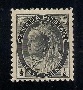 Canada #74 Black - 1/2 Cent - Unused - O.G.