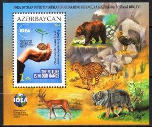 Azerbaijan 2014 Environment Protection Birds Animals Bears Wolves S/S MNH**