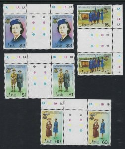 1985 Scouts Nevis Girl Guides 75th anniversary gutter pairs