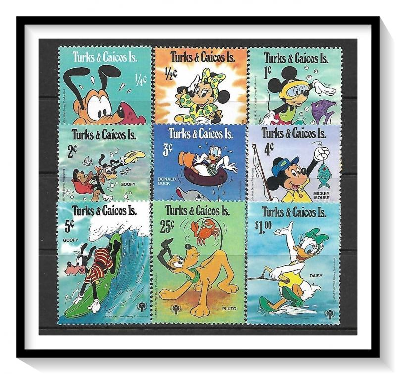 Turks & Caicos #399-407 Disney Year of The Child MNH