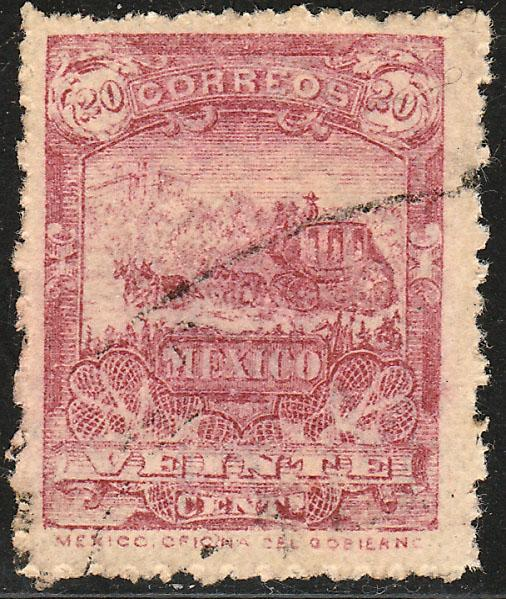 MEXICO 276, 20cents MULITA WMK EAGLE AND RM USED (352)