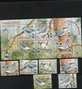 Bahamas 2006 birds fauna set+s/s MNH