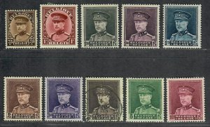 $Belgium Sc#227, 228, 229-236 U-M/H/VF, complete set, #234 is used, Cv. $89.40