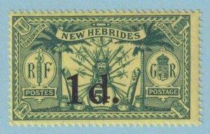 BRITISH NEW HEBRIDES 26  MINT HINGED OG * NO FAULTS VERY FINE !