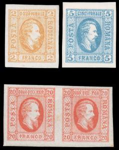 Romania #22-24 MHR CV$185.00 Alexandru Loan Cuza [56066]