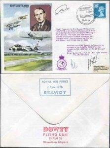 HA7b Sir Sydney Camm CBE.FRAeS Signed by Flt Lt Shaw and Crew Members (A)