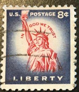1041B Statue of Liberty, Dry print, Circulated Single, Vic's Stamp Stash