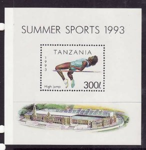 Tanzania-Sc#1025-unused NH sheet-Sports-High Jump-1993-