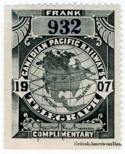(I.B) Canada Telegraphs : Canadian Pacific (1907)