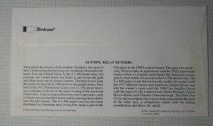 US FDC Sc# 2542  Olympic Relay Runners Fleetwood Hunt Valley MD 1991
