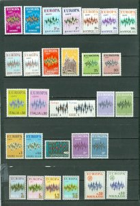 EUROPA 1972..(20/22) COUNTRIES..43 STAMPS..SETS..MNH..$90.00