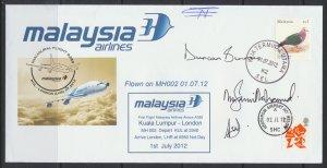 Aviation – Malaysia Airlines Inaugural A380 Kuala Lumpur - London  FFC  2012