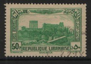 LEBANON, C73, USED, 1937-40, Ruins of Baalbek