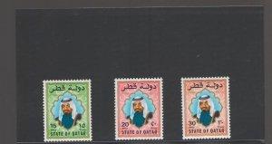 QATAR: Sc.690-92/**SHAIKH KHALIFA**/Mint Never Hinged/CV$:85+
