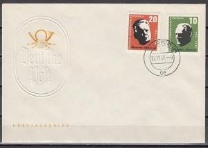 German Dem. Rep. Scott cat. 375-376. Musicians Anniversary. First day cover.