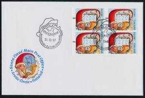 Finland 1997 Christmas Frama Labels on FDC