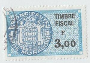 Monaco France revenue fiscal stamp 5-9-21- scarce- Taller Format