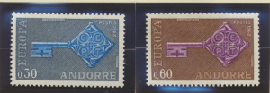 Andorra (French Administration) Stamps Scott #182 To 183, Mint Hinged - Free ...