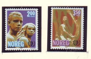 Norway Sc 863-4 1985 International Youth year stamp set mint NH