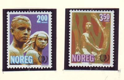 Norway Sc 863-4 1985 International Youth year stamp set mint NH