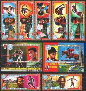 Equatorial Guinea. 1972. 81-87, bl13-14. Munich Summer Olympics. USED.