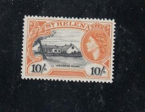 ST HELENA # 152 VF-MLH QE11 10sh CAT VALUE $40