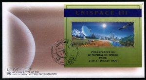 342a UN - Geneva Unispace OFDC PHILEXFRANCE ovpt