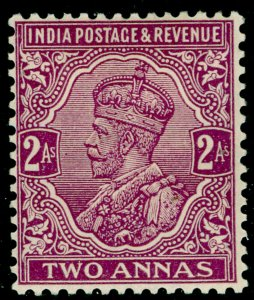 INDIA SG168, 2a deep mauve, M MINT. Cat £12.