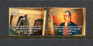 Peru 1771, MNH, Francisco Antonio de Zela Military Art Painting 2011. x29672