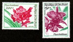 Ivory Coast 916 Mint NH MNH Flora Fauna Flowers!