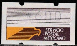MEXICO KLUSENDORFF, BROWN & ORANGE LABEL. MINT, NH. VF.(1041)