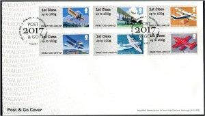 HERRICKSTAMP GREAT BRITAIN NEW ISSUE Royal Mail Heritage Mail by Air P&G FDC