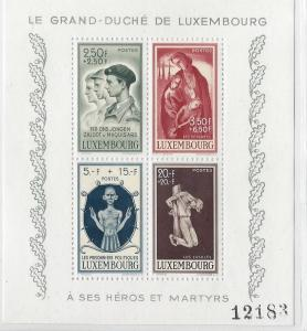 Luxembourg, B131, Various Designs Sheet of 4, **MNH** (LL2018)