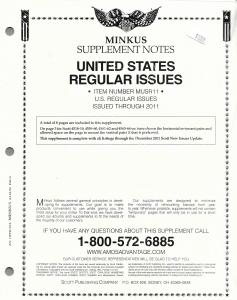 Minkus United States Regular Issues MUSR11 Supplement 2011