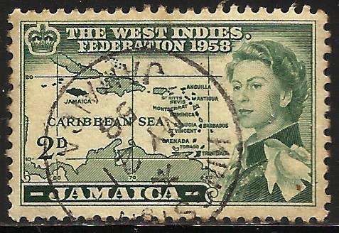 Jamaica 1958 Scott# 175 Used