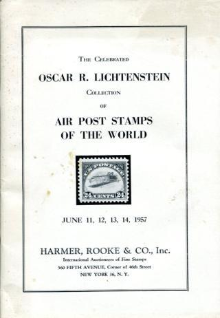 Auction - OSCAR LICHTENSTEIN Air Post Stamps, 6.11-14.1957