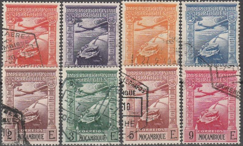 Mozambique #C1-8   F-VF Used CV $3.20 (A15010)