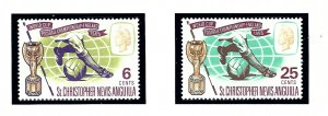 St Kitts-Nevis 173-74 MNH 1966 World Cup Soccer